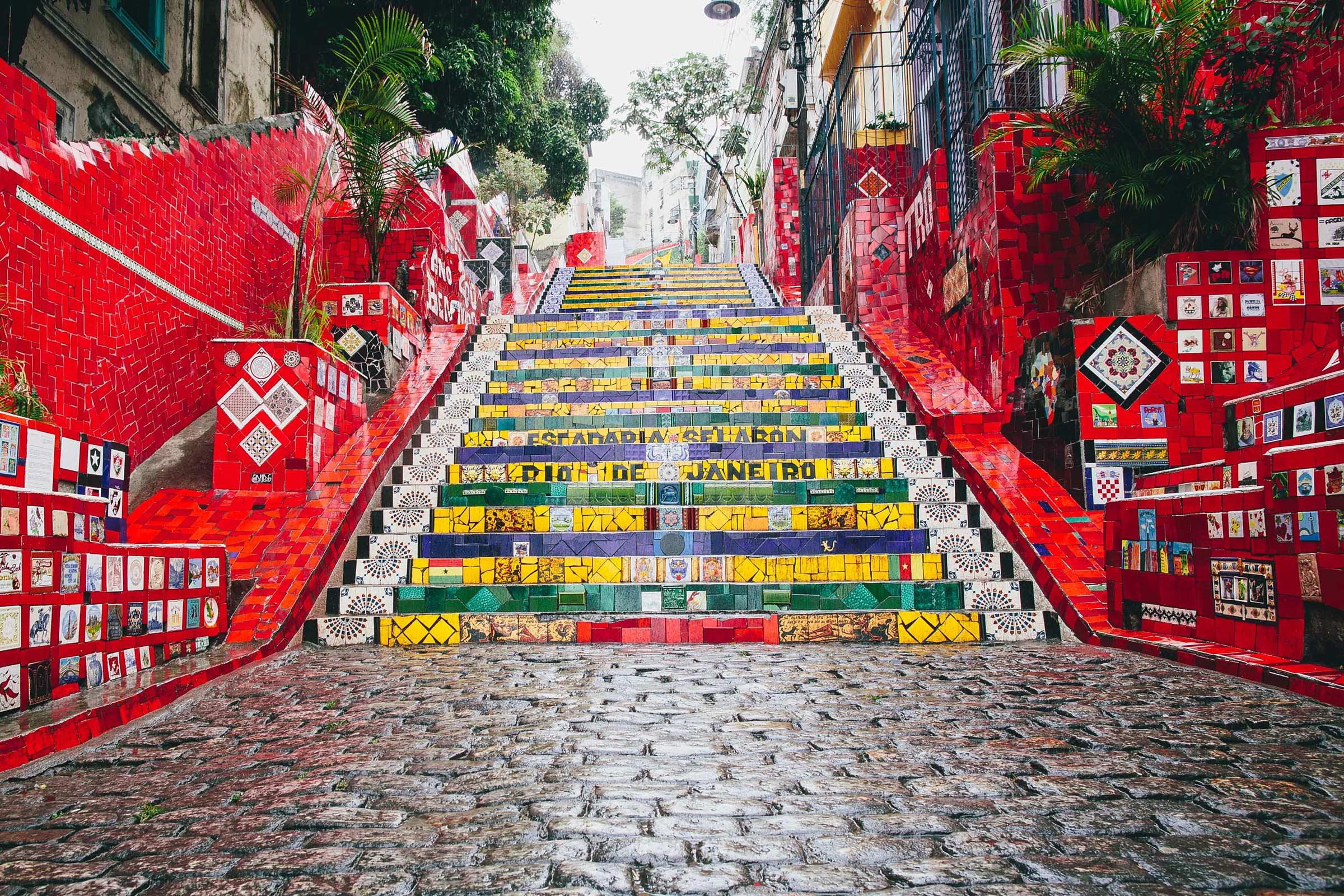 The Escadaria Selarón (Selarón steps), Rio De Janeiro