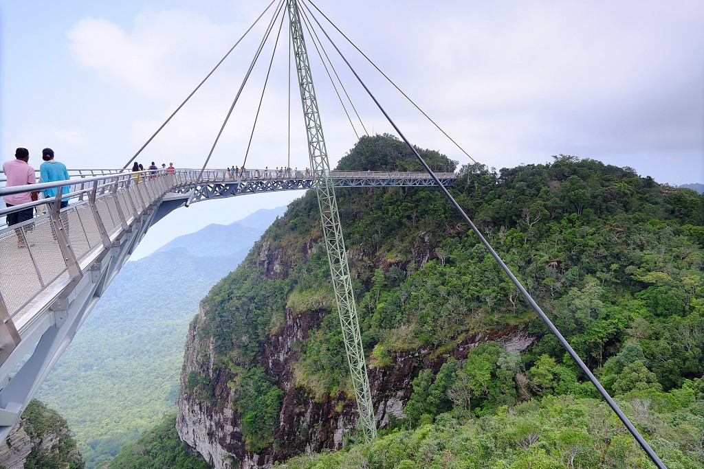 The skywalk at the top of Langkawi's Mt Machinchang. Photo by Stephen Brown