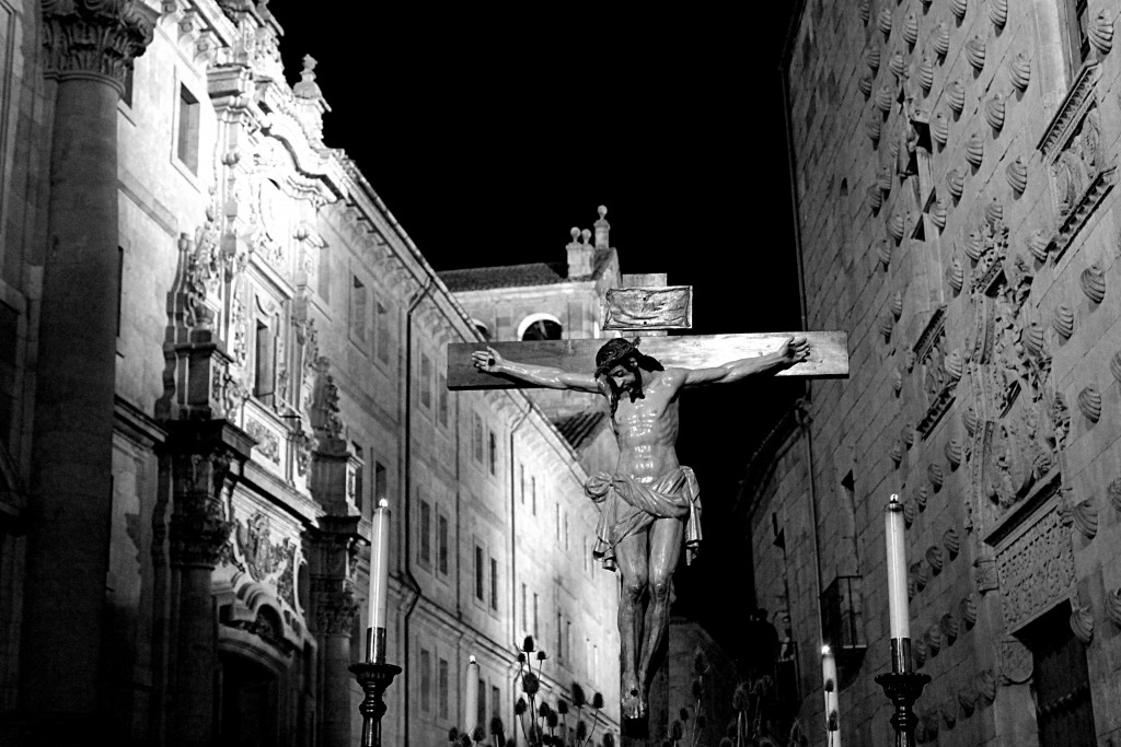 A crucified Christ on a cross