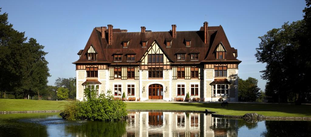 A view of the guest manor Château de Chanteloup at Martell House, Cognac, France