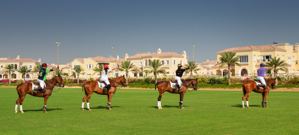 Playing Polo in Dubai