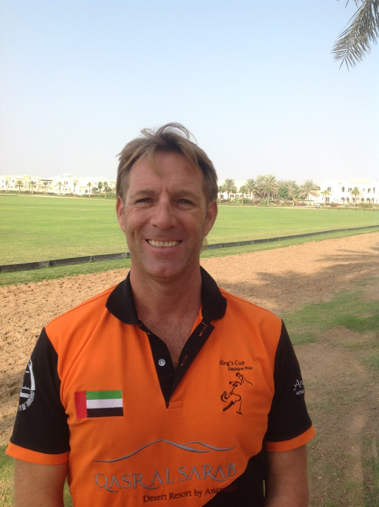 Polo master Stephen from the Dubai Polo Academy