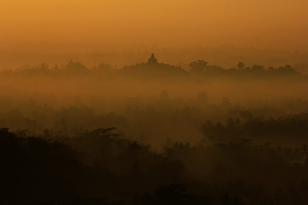 Borobudur Temple at dawn. Photo by Indra Bayu Permana
