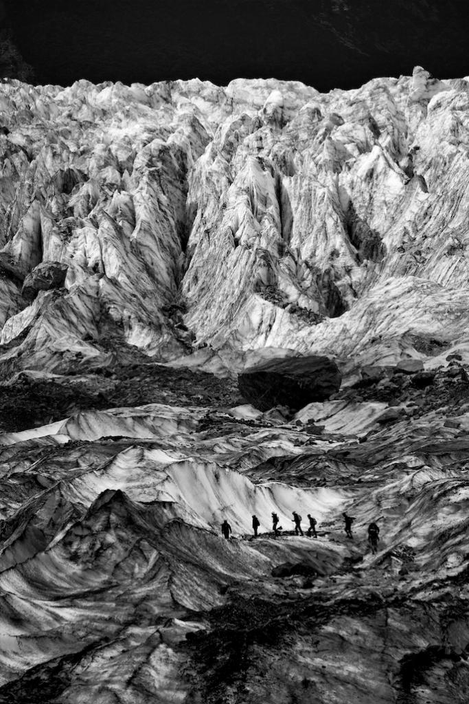 The climb up Fox Glacier. Photo by Alexander Riek