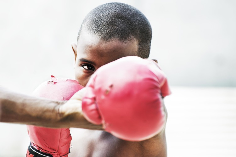 Shadow boxing, Havana, Cuba. Photo by Thai Neave.