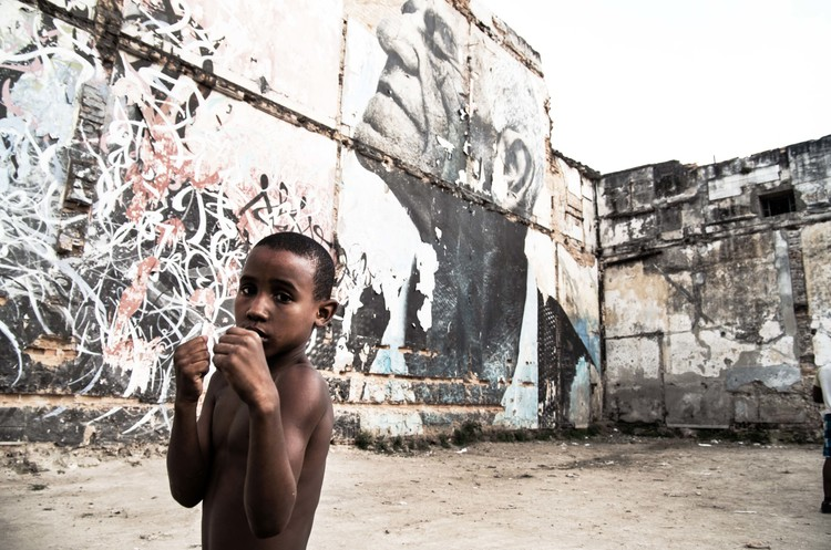 Shadow boxing, Havana, Cuba. Photo by Thai Neave.