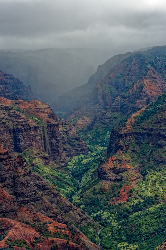 Waimea canyon, Kaua'i – still stunning on a rainy day. Photo by Shanti Shipsky