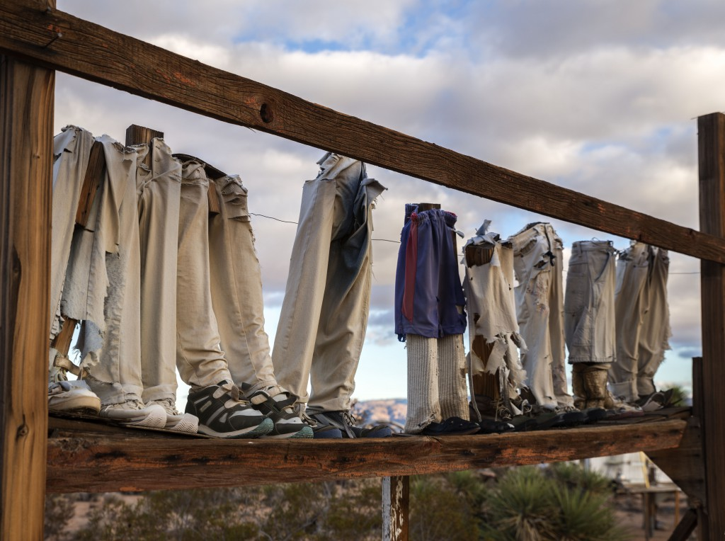 Noah Purifoy. From the Point of View of the Little People, 1994. Mixed Media Construction. 305 x 244 x 46 centimetres. © Noah Purifoy Foundation Photo © Fredrick Nilsen Joshua Tree, California