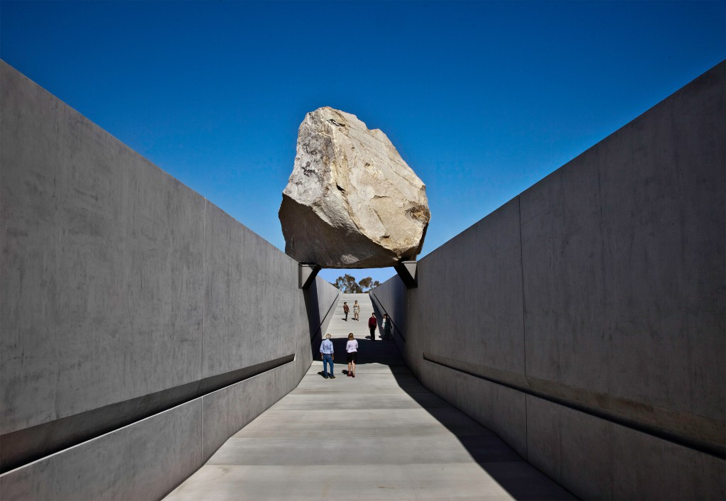 Michael Heizer. Levitated Mass, 2012. Los Angeles County Museum of Art. Michael Heizer. Photo by Tom Vinetz