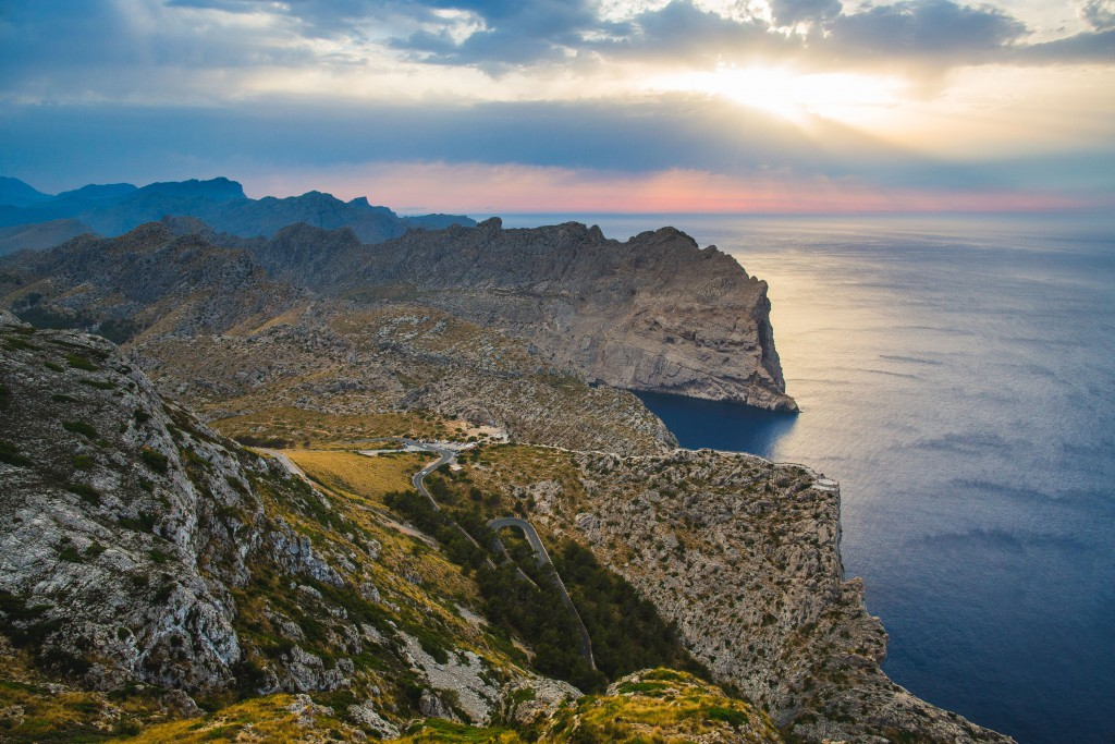 The dramatic and changing landscape on the drive from Deia to Cap de Formentor, Majorca.