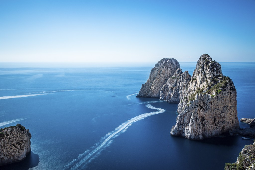 Faraglioni, on the southern coast of Capri. Photo by Axel Flasbarth