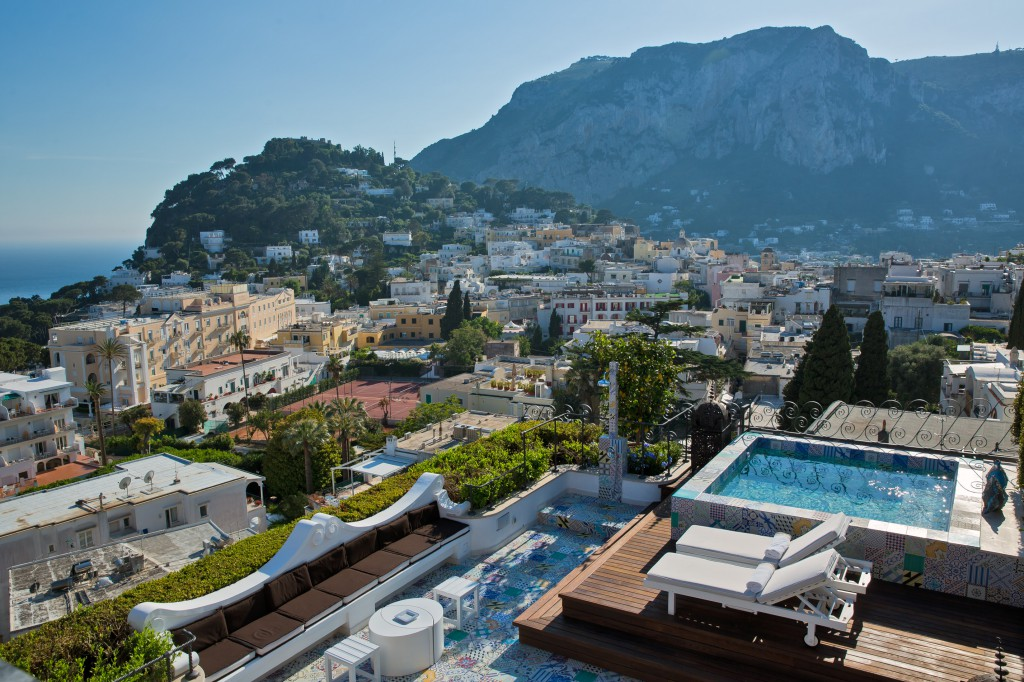 The view from Capri Tiberio Palace