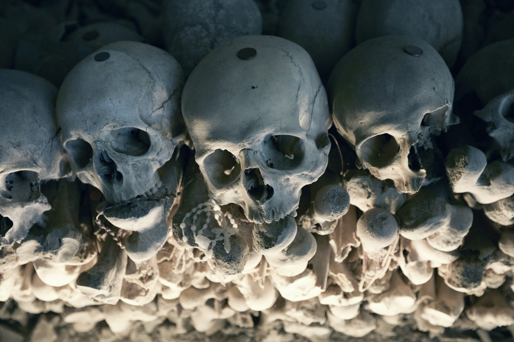 Skulls at the Fontanelle Cemetery, Naples, Italy. Photo by Henrik Knudsen