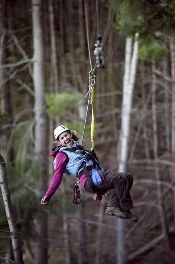The thrill of zip-lining. Photo courtesy of ZipTrek Ecotours