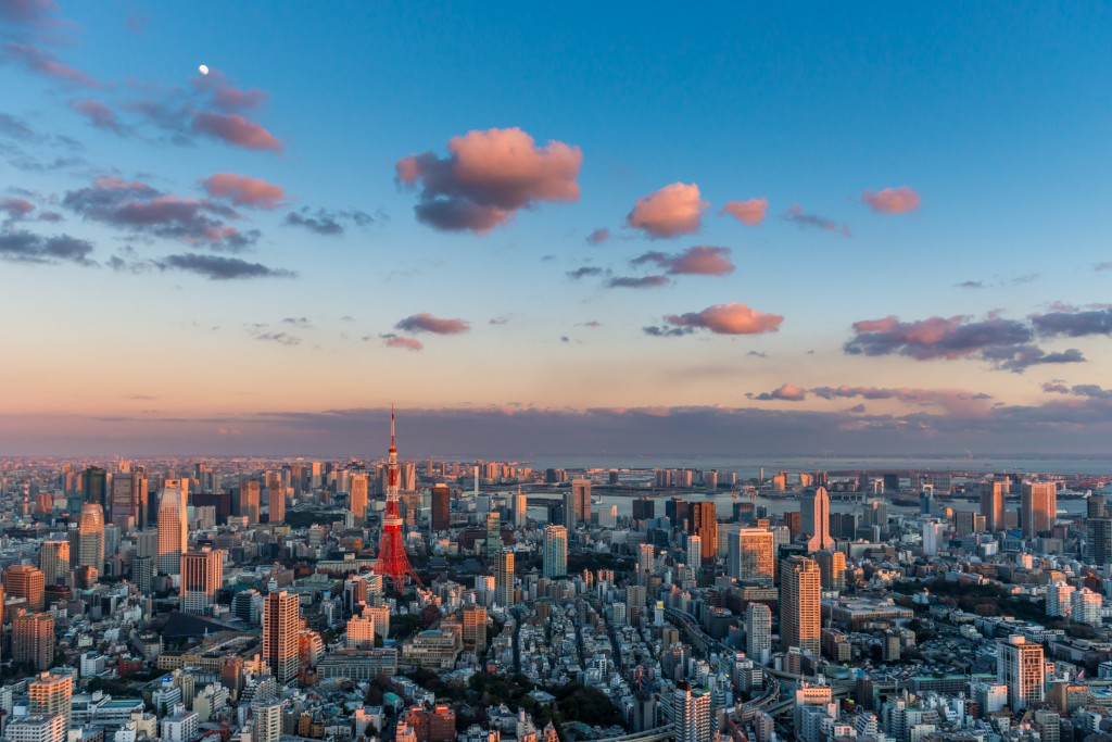 Sunset over Tokyo. Photo by Joshua Davenport