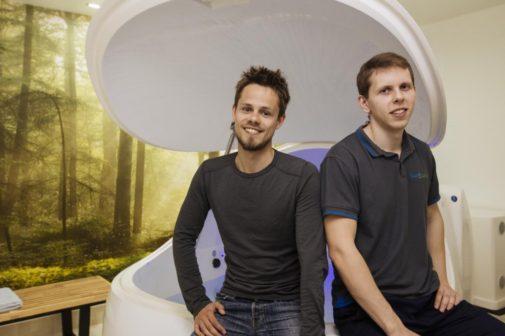 Anton Kuznetsov and Vasily Zaglyada, owners of Float Culture in Auckland, New Zealand