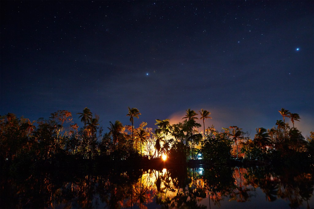 Night view from the jetty at Vila Chaumieres, Port Vila, Vanuatu. Photo by Matt Crawford