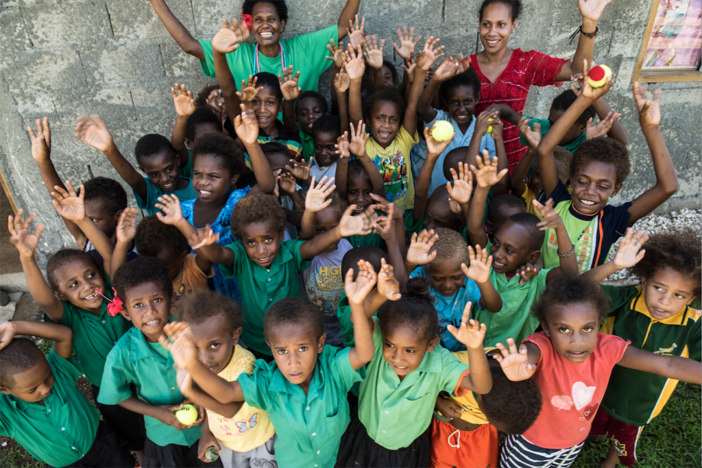 Children from the school we visited in Port Vila, Vanuatu. Photo by Thai Neave