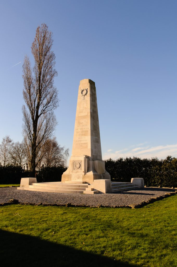The New Zealand Memorial in the sun, Mesen, Belgium