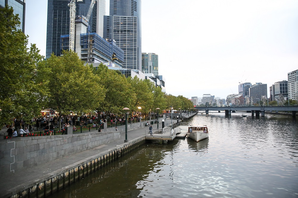 A view of Melbourne's riverside