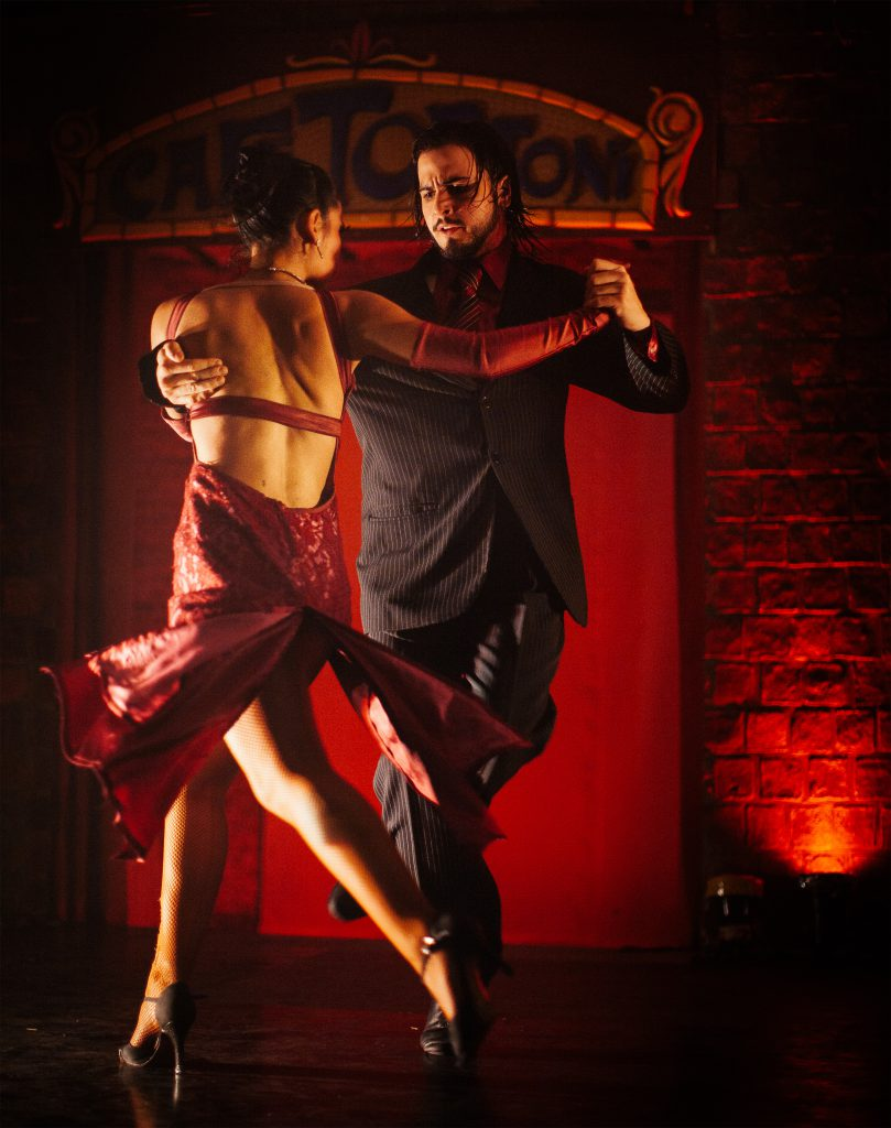 Ochos Dancers twirl in a tango show at the Gran Café Tortoni with the intensity that makes the Argentine tango such a passionate dance.