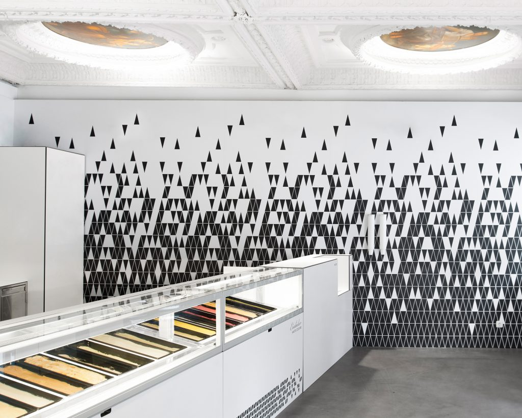 Eisdieler, Austria Ice cream parlour by day, events space by night, this minimalist parlour can satisfy sweet tooths and cater to cultural appetites too. A range of flavours are complemented by black sugar cones, giving a sophisticated edge to this simplest of desserts.