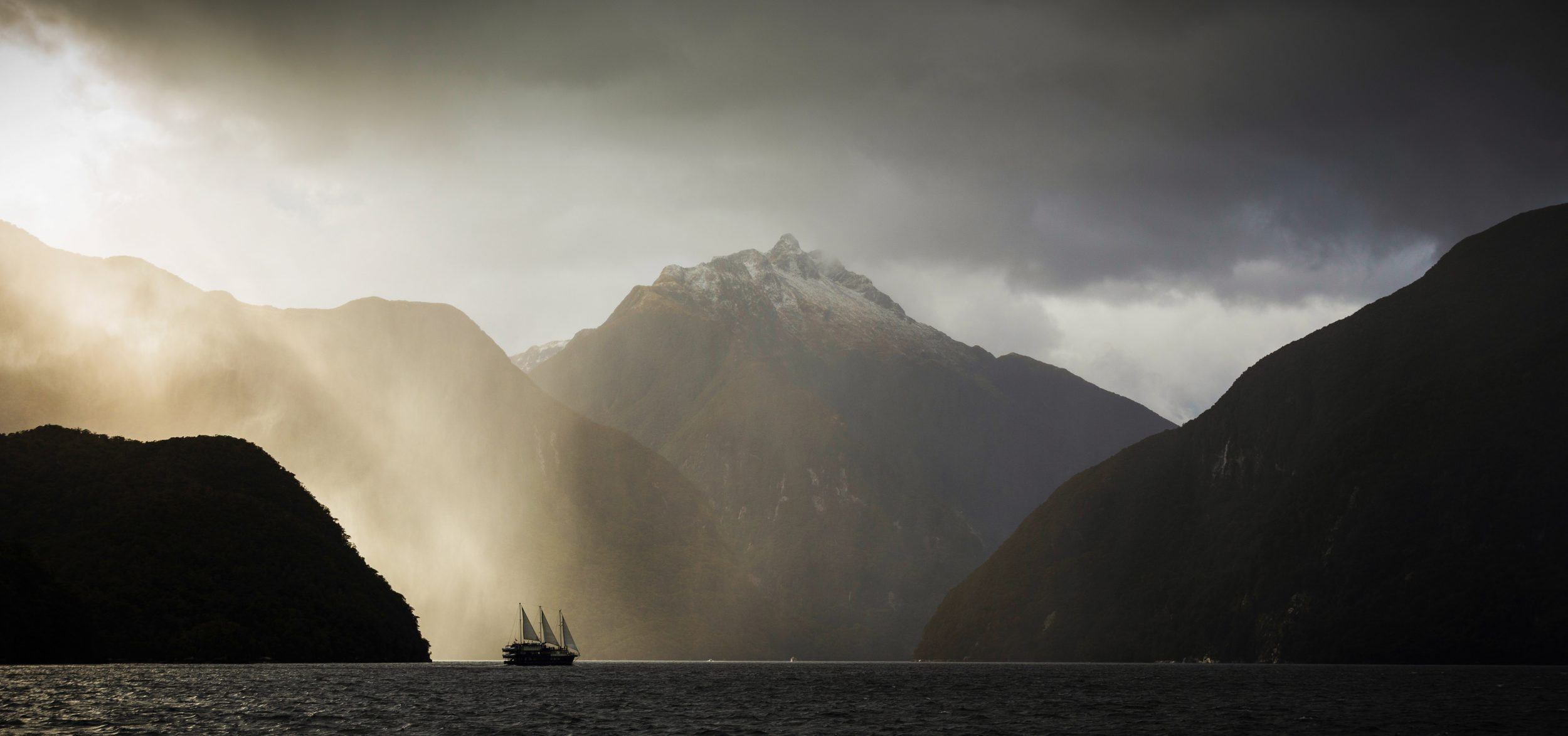 A boat cruise through Doubtful Sound