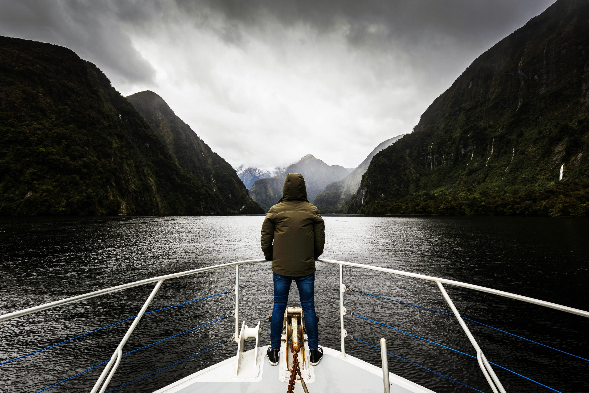 A boat cruise, Doubtful Sound, New Zealand