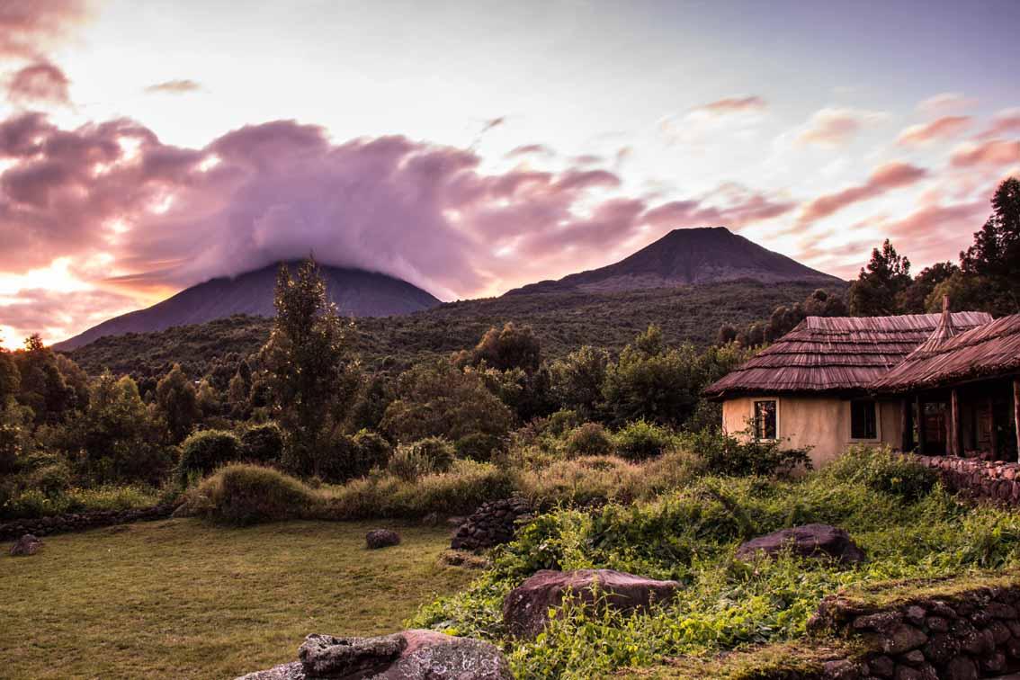 Mount Gahinga, is a dormant volcano in the Virunga Mountains