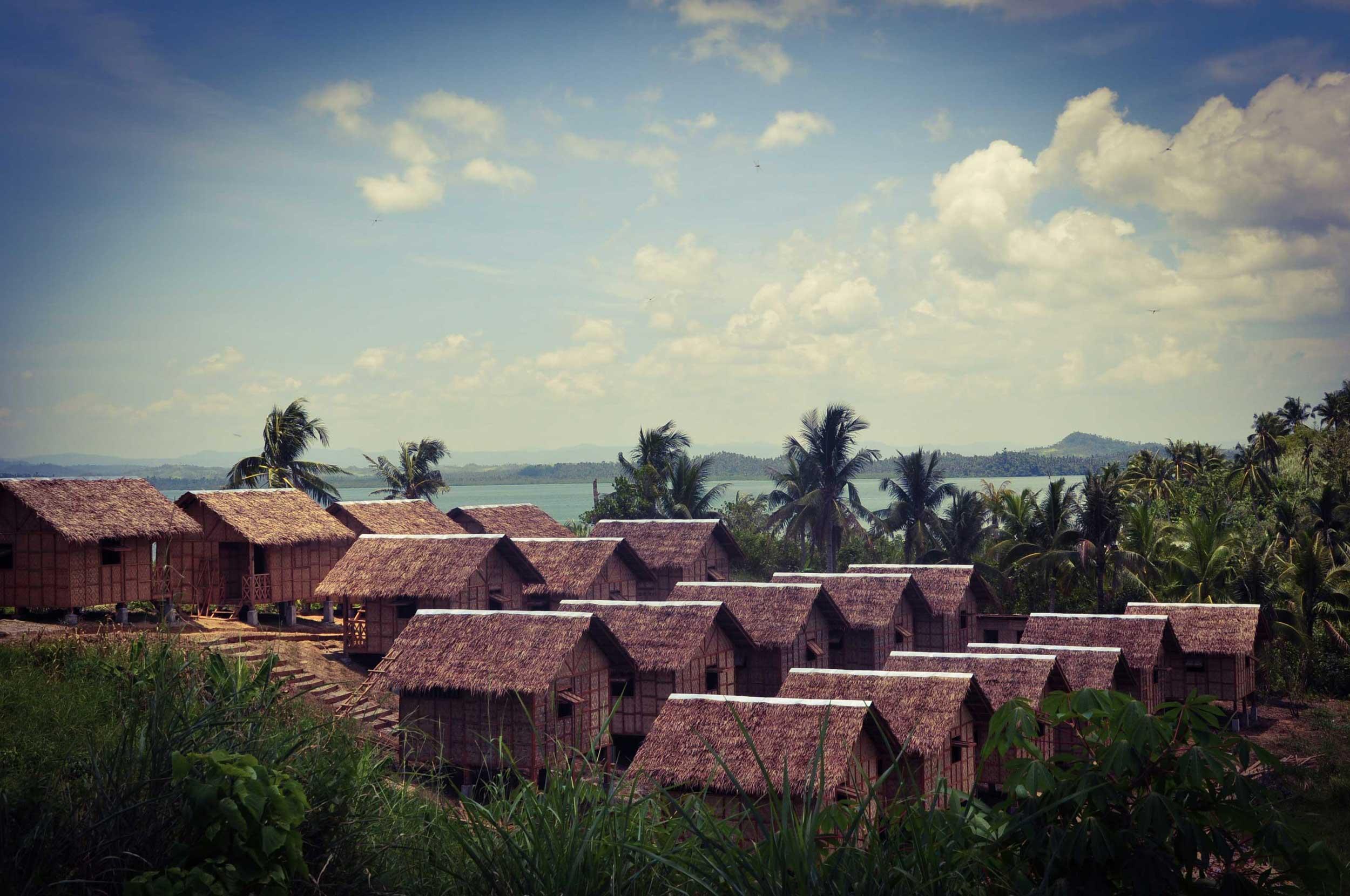 The new transitional village at Tagpuro.