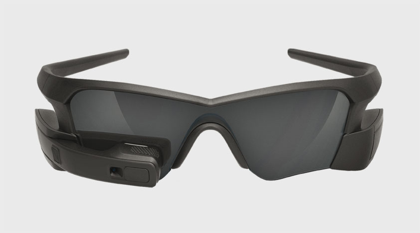 A pair of black Recon-Jet glasses