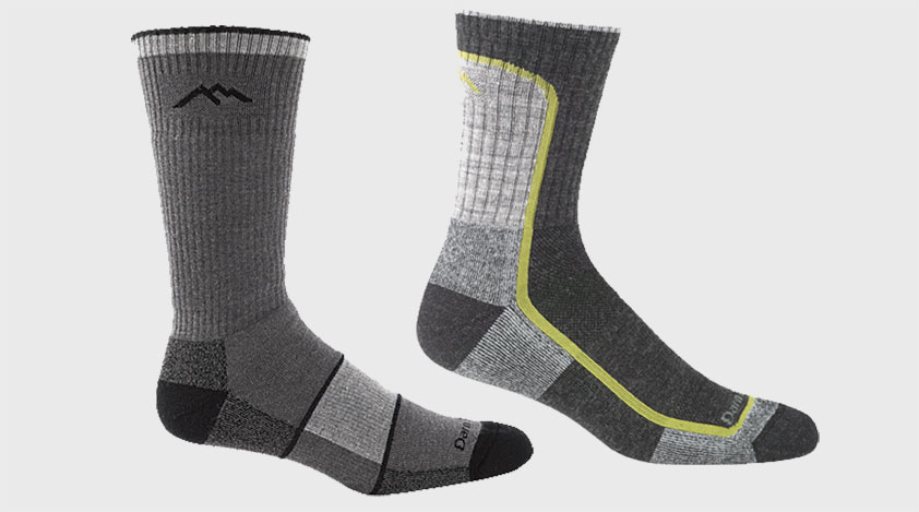 A pair of different coloured socks