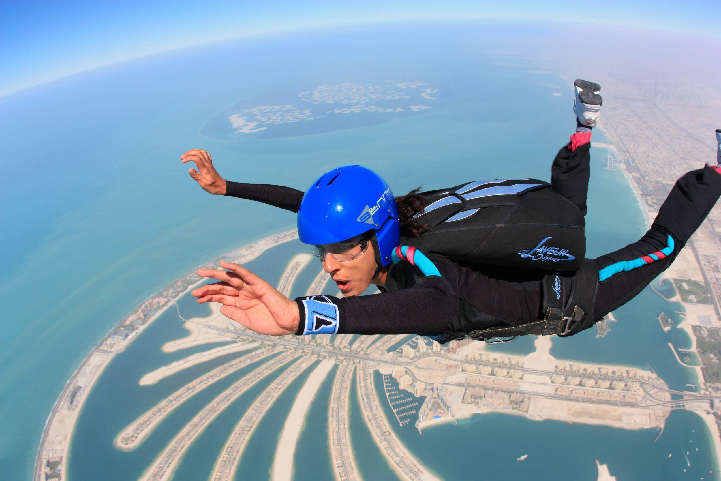 Skydiving in Dubai.