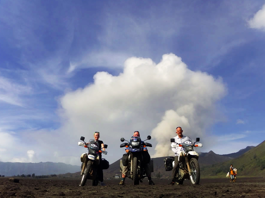 Motorcycle adventure on Mt Bromo, Indonesia