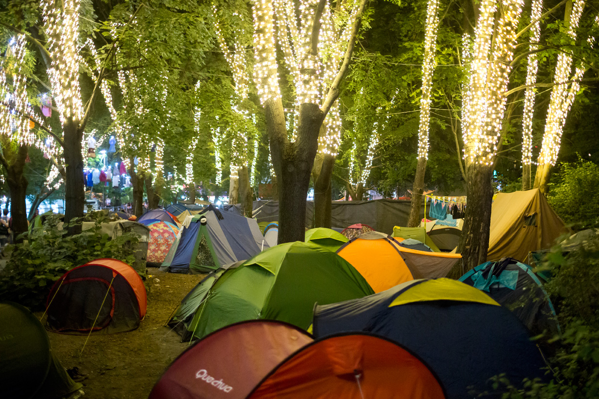 Tents in the forrest at Sziget Festival