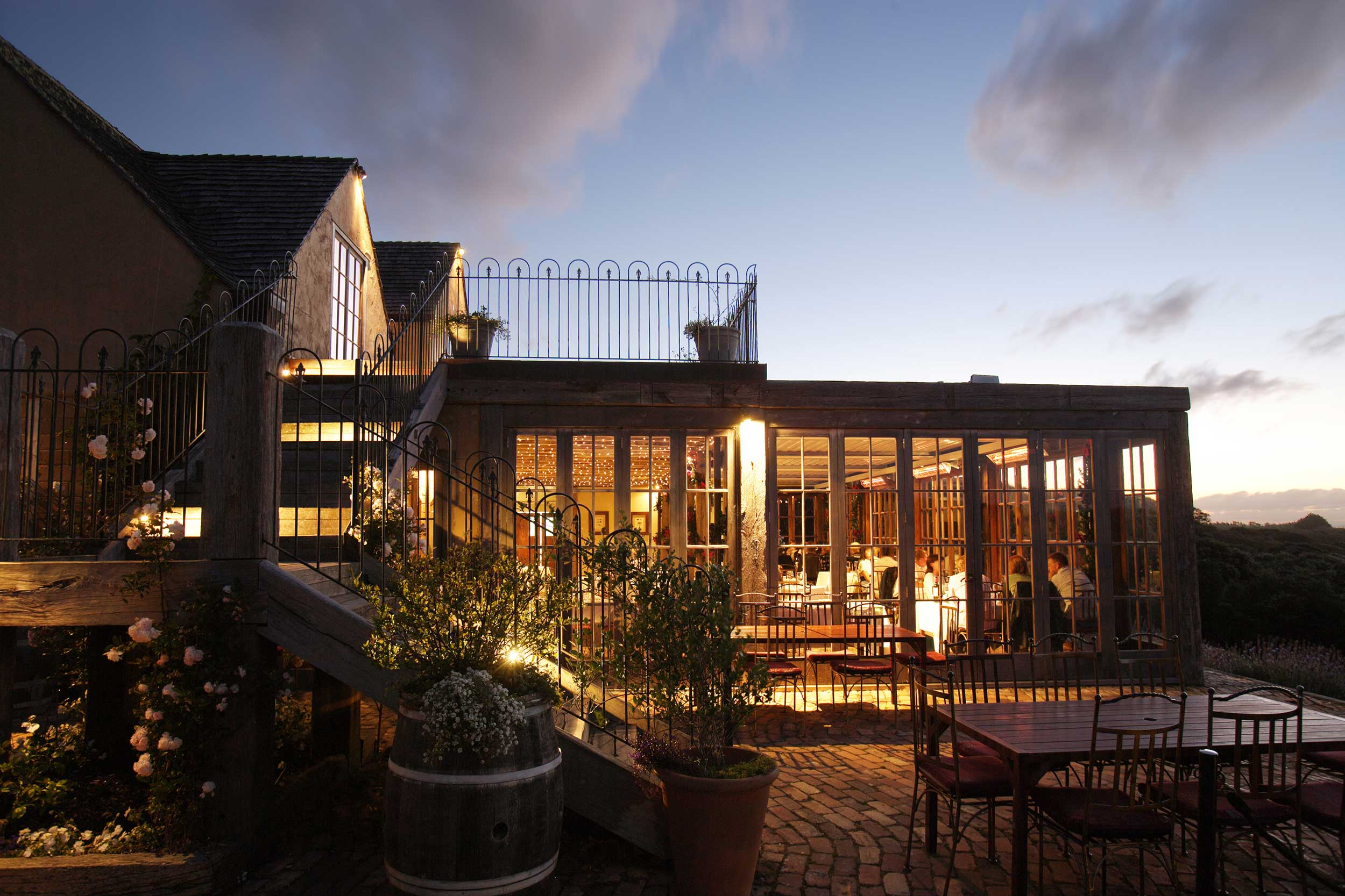 Restaurant at Mudbrick Vineyard, New Zealand