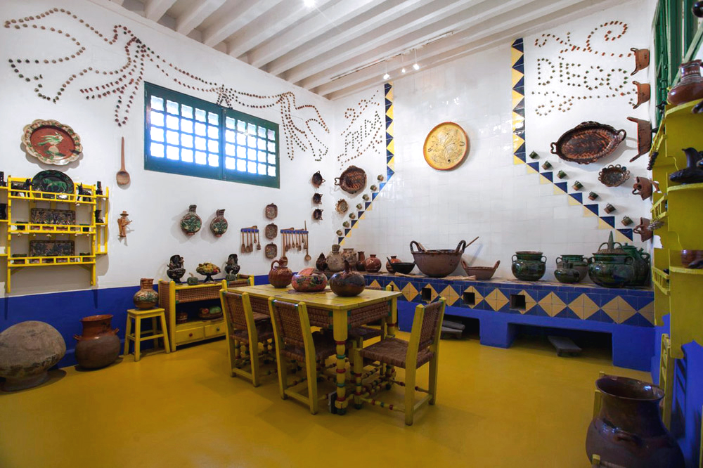 A modern art pilgrimage: the kitchen of Casa Azul, Frida Kahlo's house.