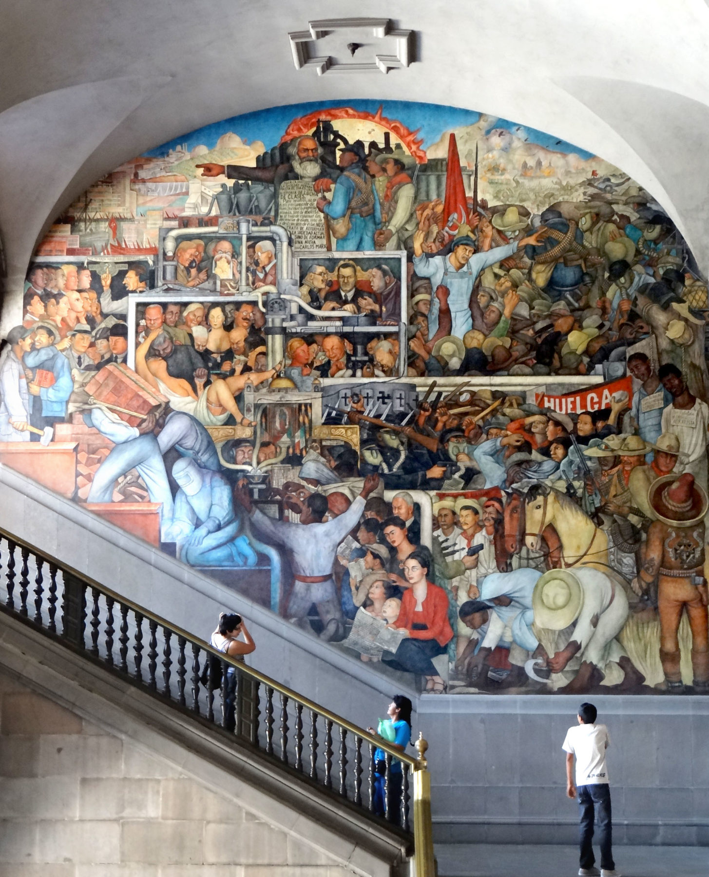 Diego Rivera's History of Mexico at the Palacio Nacional.