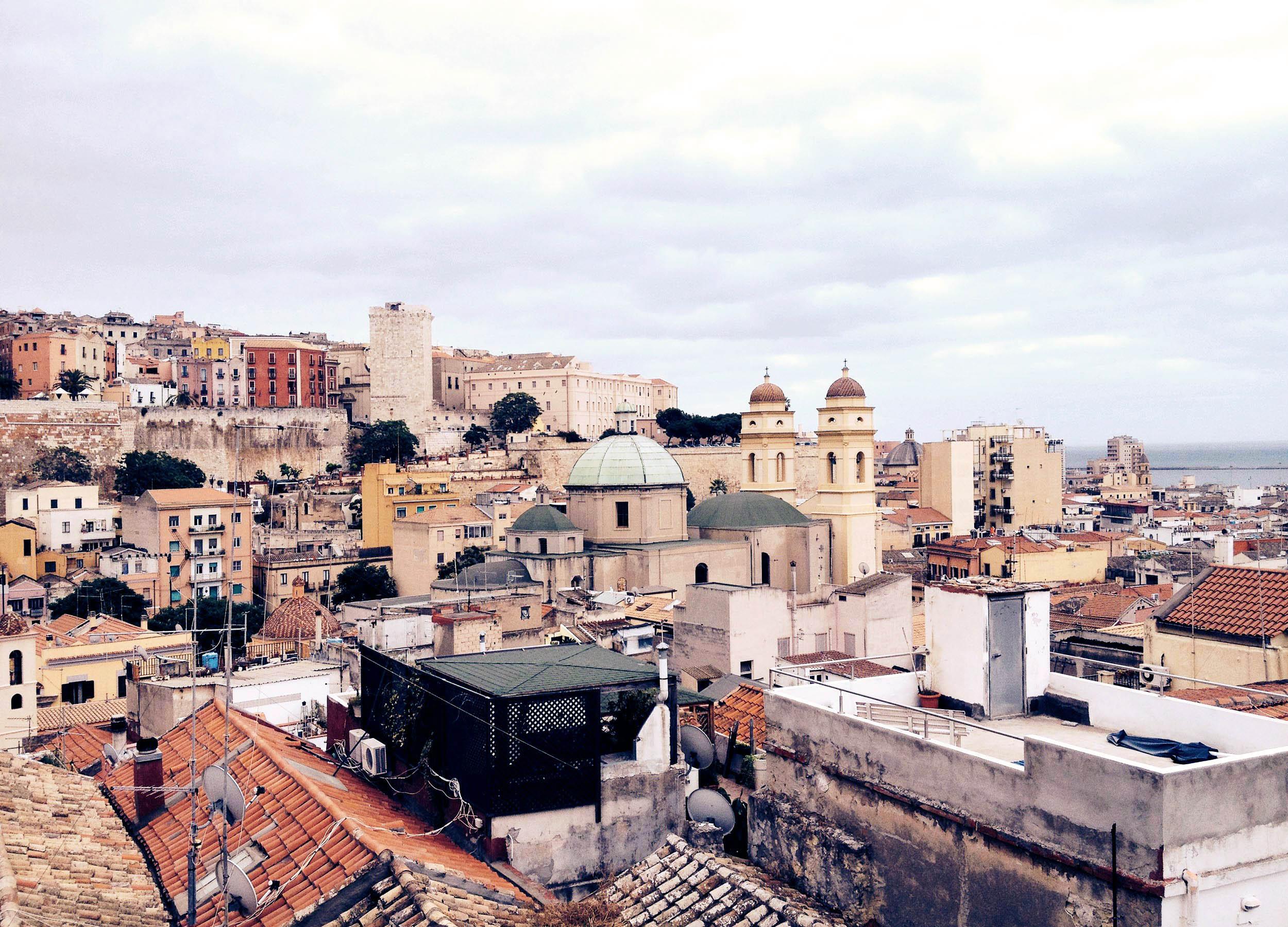 View over the city of Cagliari