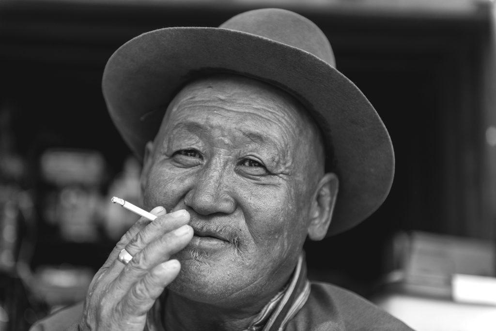 A local elder in Ulaanbaatar.
