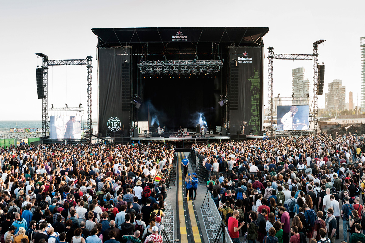 Crowd waiting in front of stage at Primavera, Barcelona
