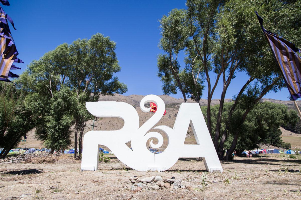 Logo installation at Rhythm and Alps