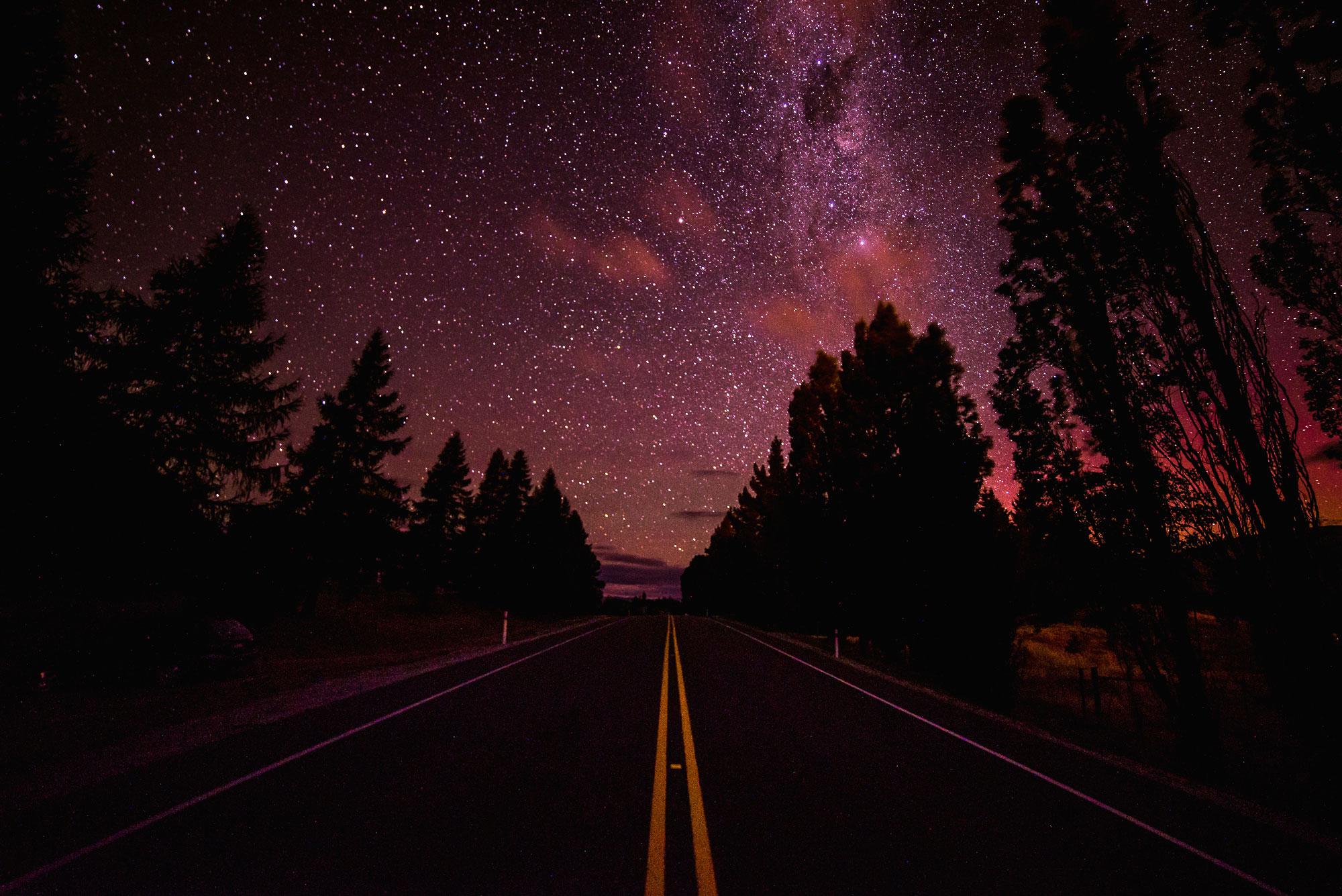 Starry night sky, Rabrosa Station, New Zealand