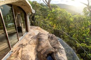 Sunset at a luxury cave in the Blue Mountains, Sydney, New South Wales