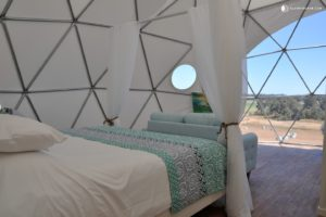 Eco dome with four-poster bed in Western Australia