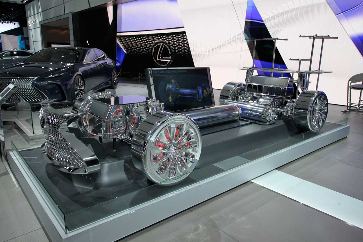 A gleaming open chassis on display