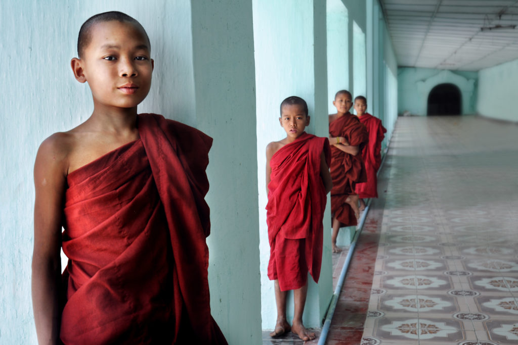 Novice monks in Sagaing, north of Mandalay.