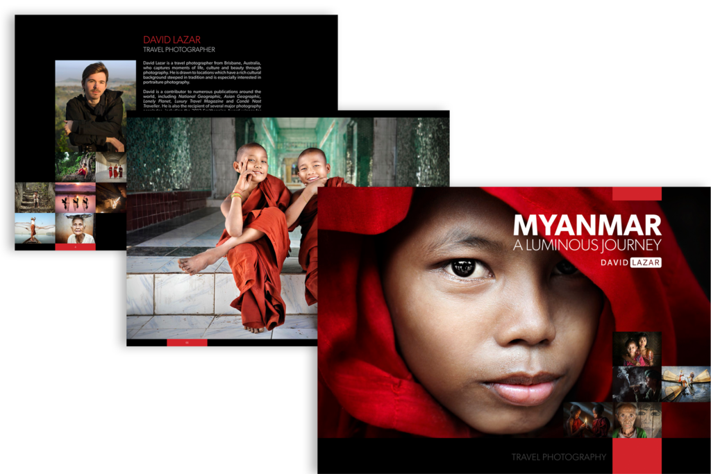 The full photographic journeyis available in Myanmar A Luminous Journey, a fine art coffee table book of photography from Myanmar featuring 128 pages of stunning portraits and landscapes by David Lazar. The images were taken over five years as David travelled to the enchanting Southeast Asian country formerly known as Burma.
