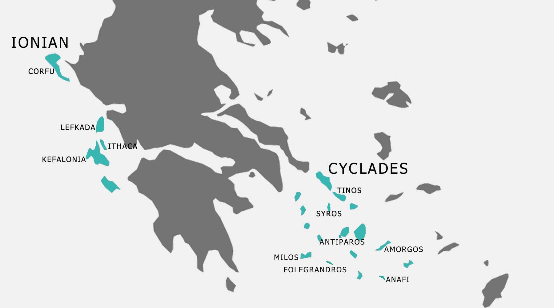 Kefalonia Greek Islands Map