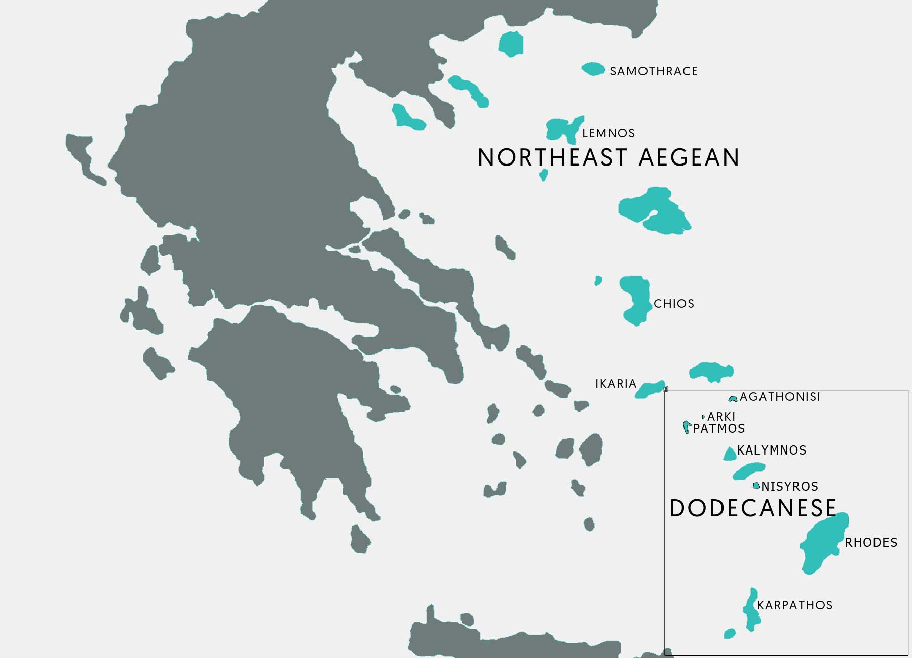 The Greek Islands Dodecanese and Northeast Aegean Destinations